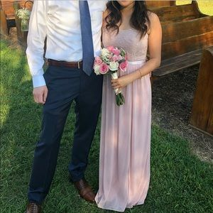 David's Bridal Dresses - Lace and Mesh Strapless Dress